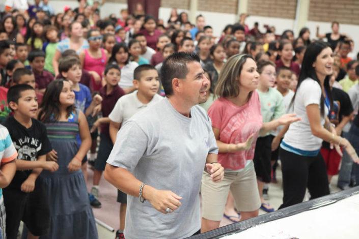 Teachers joining the dance of kids