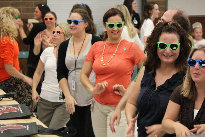 Teachers dancing